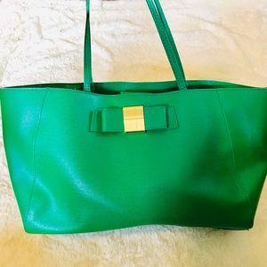 Ivanka Trump Large Green Blair Shopper Tote Bag